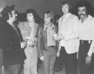 L to R - Allan Rinde, Andrew Lloyd Webber, Don Williams, Tim Rice, Artie Wayne