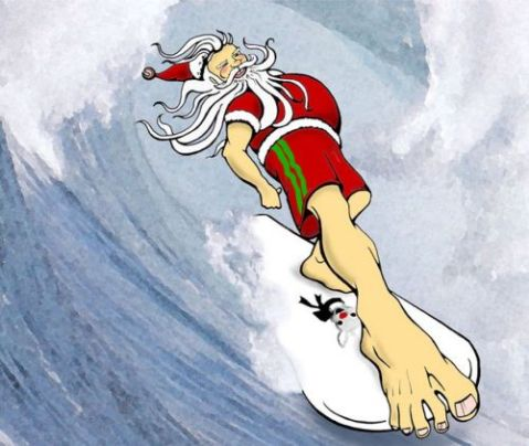 christmas-in-malibu-surfing-santa