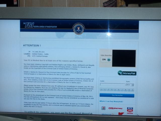 MORE ON FBI VIRUS SCAM | Artie Wayne On The Web